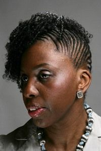 Cornrow Updo Design Photo Gallery | African-American Natural Hairstyles