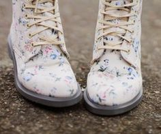 I want a pair of floral combat boots so badly!