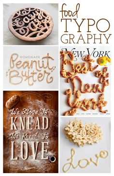 Im a sucker for food typography while it's not exactly fundamental or shows spectacular examples of hierarchy and form, it is expressive.
