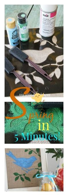 How to make Burlap Spring art in 5 minutes