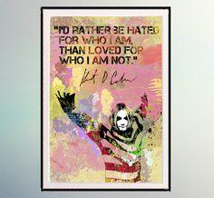 Kurt Cobain, Watercolor digital poster. Watercolor Prints.Music Painting Room Decor Musical Gift