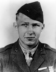 PFC Harold Agerholm, USMC - When Japanese forces launched a counterattack against US positions and overran an artillery battalion, PFC Agerholm appropriated an abandoned ambulance jeep and repeatedly made extremely perilous trips under heavy rifle and mortar fire and single-handedly loaded and evacuated 45 casualties. Despite intense enemy fire, he ran out to aid two men he believed to be wounded marines but was himself mortally wounded by a sniper. July 7, 1944