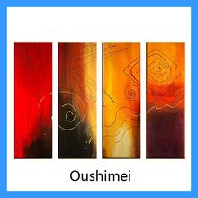 Hand Painted Modern Wall Decor Oil Paintings 4 Piece/set Art Canvas Big Painting Abstract Home Decoration For Living Room(China (Mainland))
