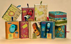 B. Toys makes the cutest packaging. From thedieline.com. Beautiful colors & patterns