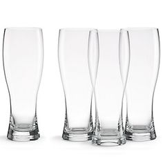 The shape the glasses in this set of Tuscany Classics® from Lenox is created to bring out the best in Wheat Beers