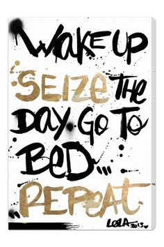 Seize the Day Canvas Art by Oliver Gal Gallery on @HauteLook