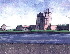 Stephen French Broughty Ferry Castle Signed Limited Edition Print | Scottish Contemporary Art