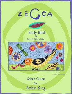 Early Bird by Karen Hennessey, Stitch Guide by Robin King