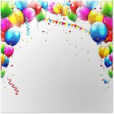 Coloful birthday balloons isolated on white background Illustration , Happy Birthday My Love, Birthday Balloons, Easter Eggs, Vector Free, Vector Stock, Sprinkles, Illustration, Christmas Bulbs, Presentation