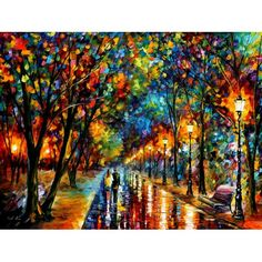 WHEN DREAMS COME TRUE - PALLET KNIFE Original Recreation Oil Painting On Canvas By Leonid Afremov
