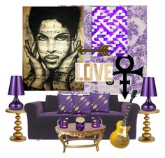 """""""Prince...You Will Be Missed..."""" by kimberlyd-2 ❤ liked on Polyvore featuring interior, interiors, interior design, home, home decor, interior decorating, Designers Guild, Americanflat and PBteen"""