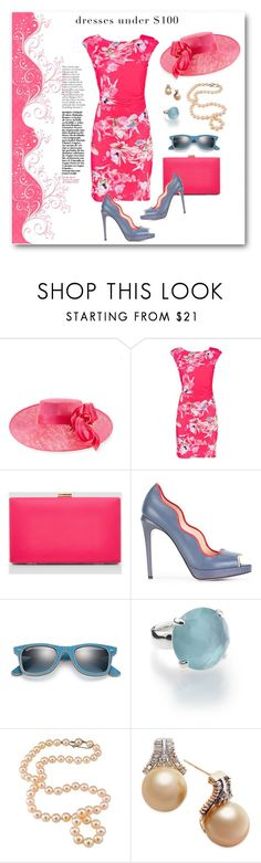 """""""Pink & Periwinkle"""" by metter1 ❤ liked on Polyvore featuring Philip Treacy, New Look, Fendi, Ray-Ban and Ippolita"""