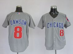 $22.00 MLB jerseys Chicago Cubs Andre Dawson #8 Grey
