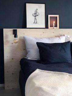 Diy plywood headboard - sengegavl i kryssfiner Plywood Headboard Diy, Diy Bed Headboard, Headboards For Beds, Bedroom Inspo, Home Bedroom, Modern Bedroom, Diy Bedroom Decor, Home Decor, Kids Bedroom