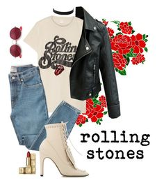 """""""rolling stones"""" by confidently ❤ liked on Polyvore featuring MadeWorn, Everlane, Sergio Rossi, Express, Ray-Ban and Guerlain"""