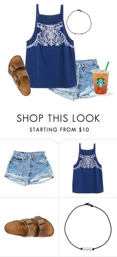 """""""beach hair, don't care"""" by abbyjenkinstx ❤ liked on Polyvore featuring Birkenstock"""