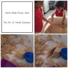Kinetic sand recipe