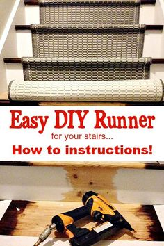 How to add a runner to stairs. I have an easy DIY for you to personalize your stairs with what ever rug runner you want. Easy to change out when needed.