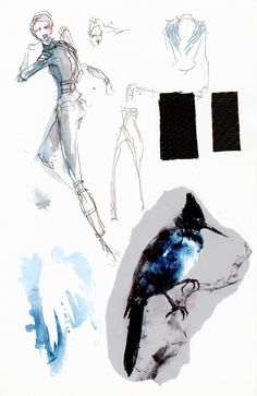 See Exclusive Sketches of the Mockingjay Battle Outfit | TIME Cinna Hunger Games, Hunger Games Mockingjay, Hunger Games Catching Fire, Hunger Games Trilogy, Mockingjay Costume, Hunger Games Tattoo, Hunger Games Drawings, Katniss Everdeen, Katniss Y Peeta