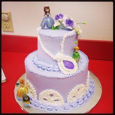 Our sofia the first birthday cake made by grandma Rizzuto!