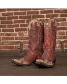 American Rebel Boot Company Women's Nikki Boot - Vintage Red/Cinnamon I'm in Love!!