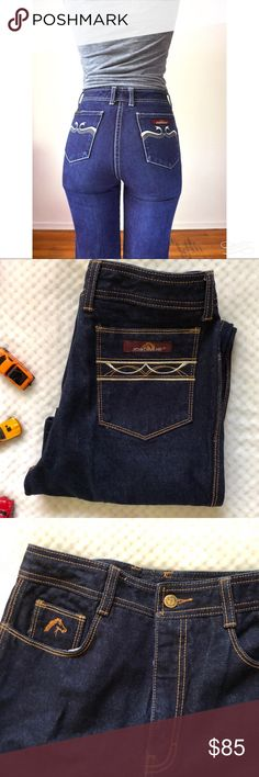 "Vintage JORDACHE Dark Wash High Waist Jeans Amazing pair of vintage JORDACHE women's jeans. Vintage size 29L. Measures 13"" Waist 28.5"" inseam 11"" Rise. Measurements taken flat. Get these while you can! Jordache Jeans Straight Leg"