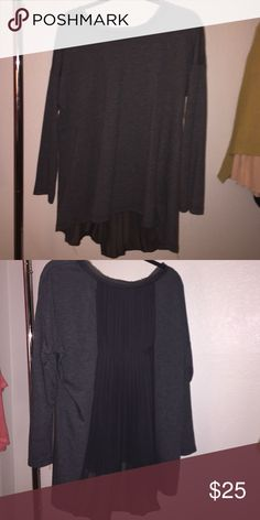 Long sleeve cute shirt Has sort of a see through back great condition super cute never worn Pleione Tops