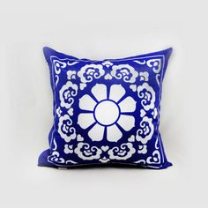 Blue and white cushion covers Chinese style decorative square pillow cover 18 inch
