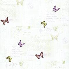 Kitchen Bath & Beyond Butterfly Mail Wallpaper by York Girl Wallpaper, Pattern Wallpaper, Kids Bath, Bath And Beyond, Kitchen And Bath, Girl Room, Swatch, Butterfly, Larger