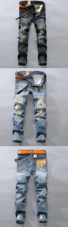 New design popular style beggars jeans men Plus size fashion Pants biker denim trousers hip hop jeans