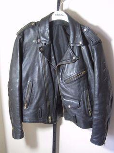 vintage 80s 90s black leather MOTORCYCLE JACKET authentic PUNK RAMONES road rash #Unbranded #Everyday