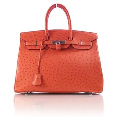 7ffa4e1f51 There s something about an Orange Birk. Love it. HERMES Ostrich BIRKIN 35  Orange