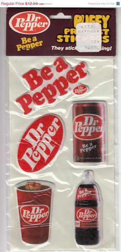 Very Rare Vintage Dr Pepper Soda stickers