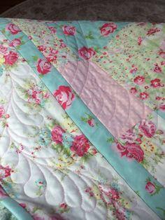 Cottage Romance - pretty fabric and nice stitching !