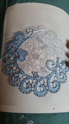 Curl after curl . Needle Tatting, Tatting Lace, Needle Lace, Hardanger Embroidery, Lace Embroidery, Irish Crochet, Crochet Lace, Romanian Lace, Bobbin Lacemaking