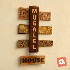 Wooden Name Plates, Door Name Plates, Name Plates For Home, Wooden Names, Clay Wall Art, Clay Art, Name Plate Design, Diy Diwali Decorations, Diwali Diy