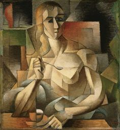 Jean Metzinger, Le goûter, Tea Time, 1911,  'The Mona Lisa of Cubism'