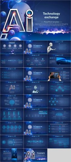 AI technology design presentation – The highest quality PowerPoint Templates and Keynote Templates download Business Powerpoint Presentation, Presentation Slides, Presentation Design, Presentation Folder, Instructional Technology, Educational Technology, Powerpoint Presentation Templates, Keynote Template, Flyer Template