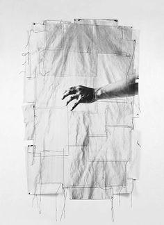 "lafilleblanc: ""Bohnchang Koo In the Beginning 1991 "" Paper Collage Art, Textile Fiber Art, Lomography, Photomontage, Public Art, Art Direction, Illusions, Art Photography, Street Art"