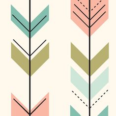Fletching arrows // on cream fabric by littlearrowdesign on Spoonflower - custom fabric