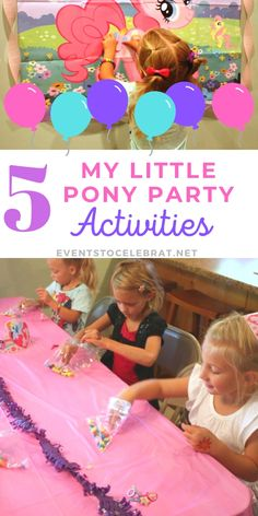 If you are looking for fun Birthday theme of My Little Pony Party Activities and games for your next My Little Pony themed party, this is the place! Toddler Birthday Party Games, Toddler Girl Parties, My Little Pony Birthday Party, Birthday Activities, Activities For Girls, Birthday Gifts For Boys, Kids Party Games, Party Activities, Birthday Ideas