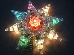 Mid Century Lighted Christmas Tree Star Topper by DivaInTheDell