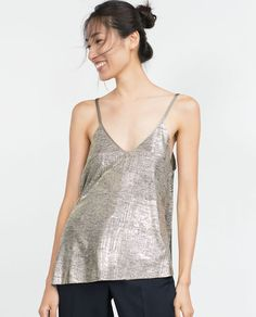ZARA - COLLECTION AW15 - TOP WITH CROSSOVER BACK