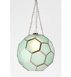 Honeycomb Glass Pendant Shade in mint