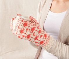 Flamingo Mittens - Knitting Patterns and Crochet Patterns from KnitPicks.com