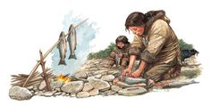 Q Files | Preparing and cooking fish over a campfire