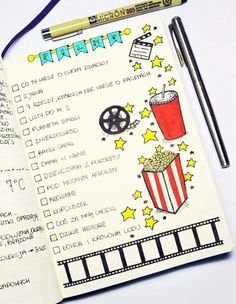 Keep in your bullet journal all the movies and tv shows you have watched or want to experience. Here are 37 gorgeous bullet journal movie tracker spread ideas for your bullet journal. Bullet Journal School, Bullet Journal Mise En Page, Bullet Journal Films, Bullet Journal 2019, Bullet Journal Spread, Bullet Journal Ideas Pages, Bullet Journal Layout, Bullet Journal Inspiration, Journal Pages