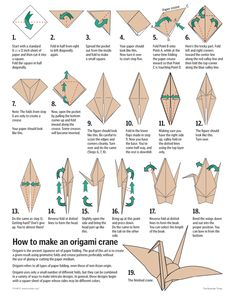 How to make an Origami crane step-by-step instructions Cómo hacer pájaro en origami. Paso a paso
