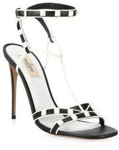 Valentino Garavani Free Rockstud Ankle-StrapSandal || afflink