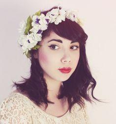 honey pie wedding flower hair crown
